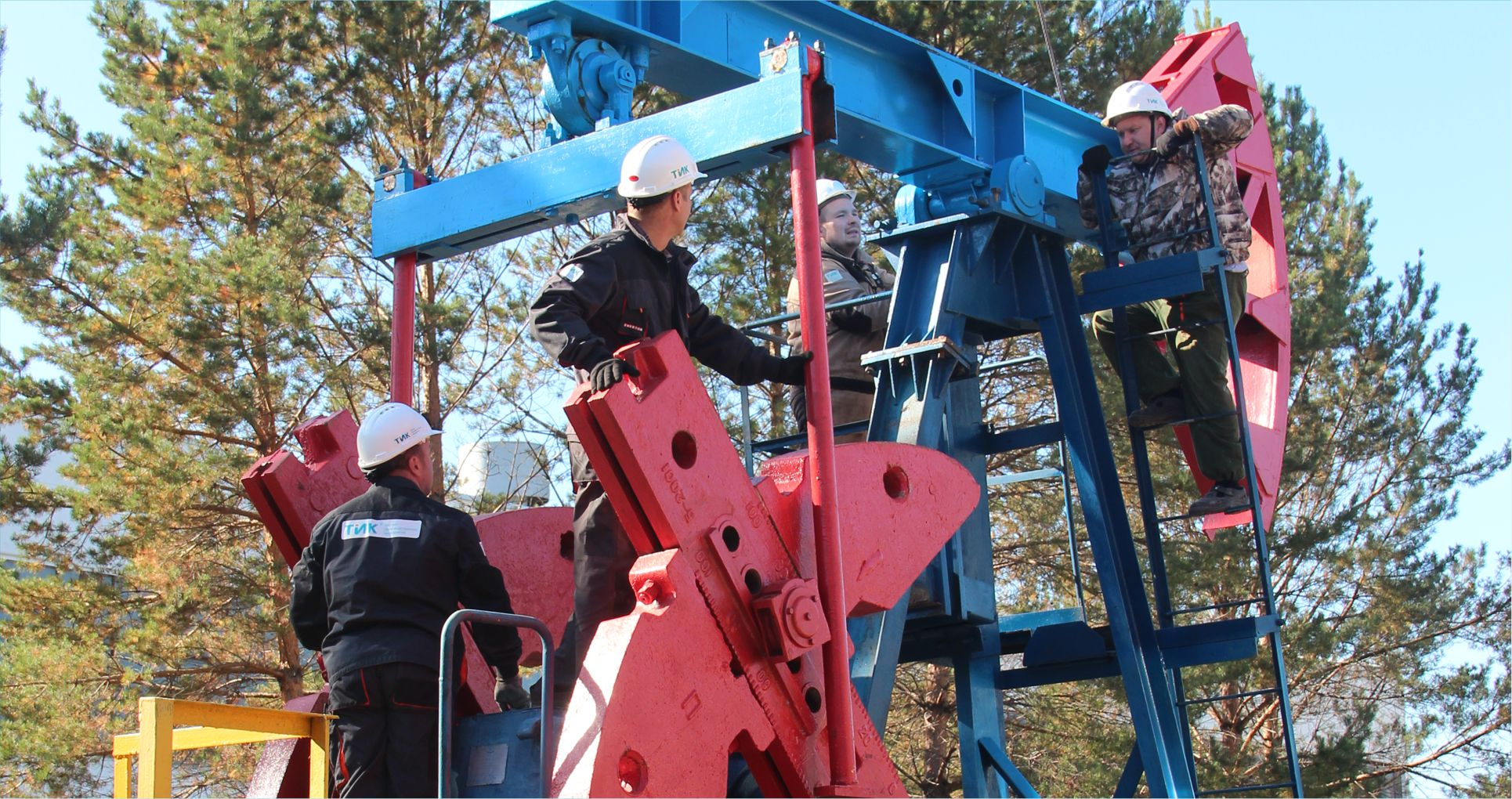 Pumpjack on the test site, production site TIK-3